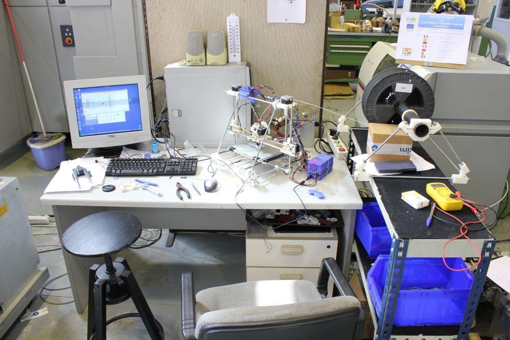 First desk from RepRapBCN