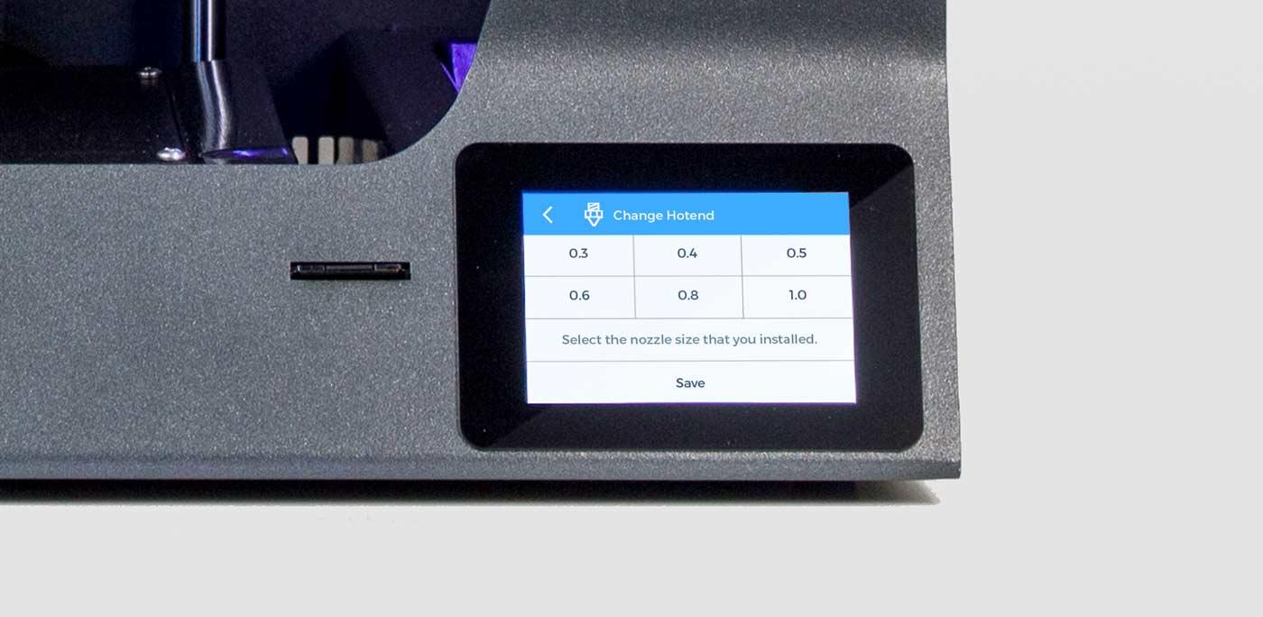 BCN3D_Technologies_new_UX_GUI_touchscreen_Sigma_Sigmax_R19_change_hotend