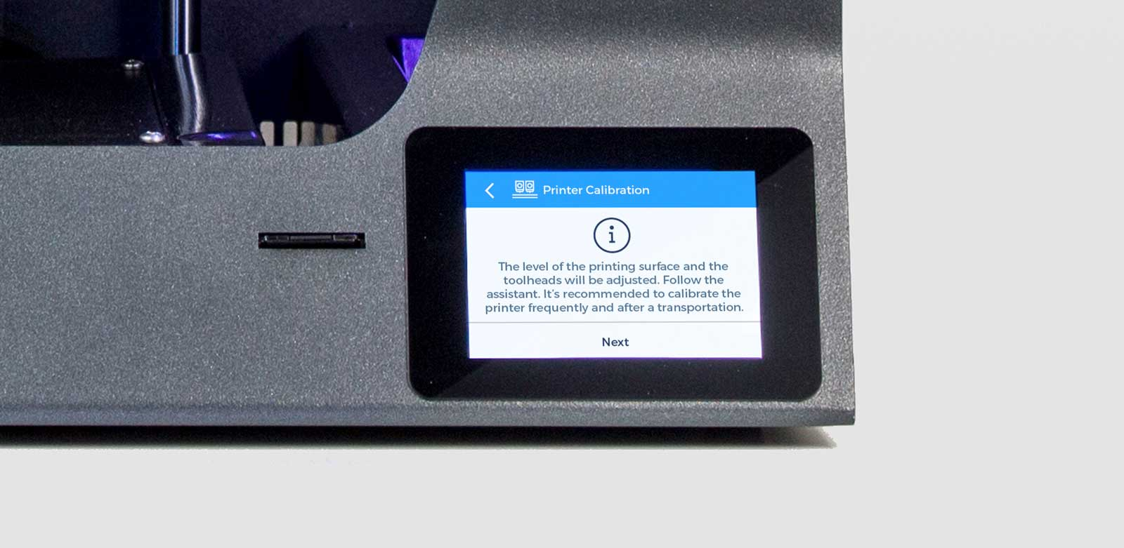 BCN3D_Technologies_new_UX_GUI_touchscreen_Sigma_Sigmax_R19_printer_calibration_info