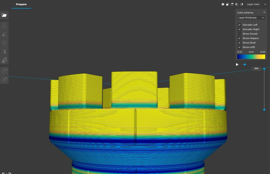 Adaptive Layer BCN3D Cura 2