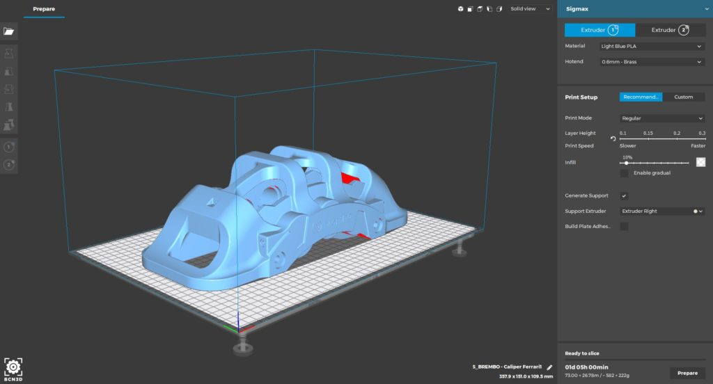 New Interface BCN3D Cura 2
