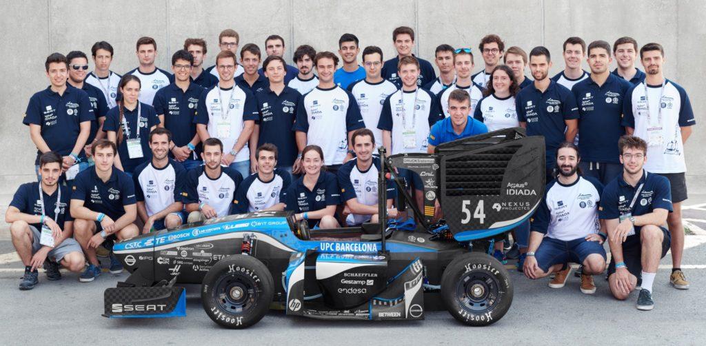 ETSEIB Motorsport BCN3D 3D printing end use pieces racing team