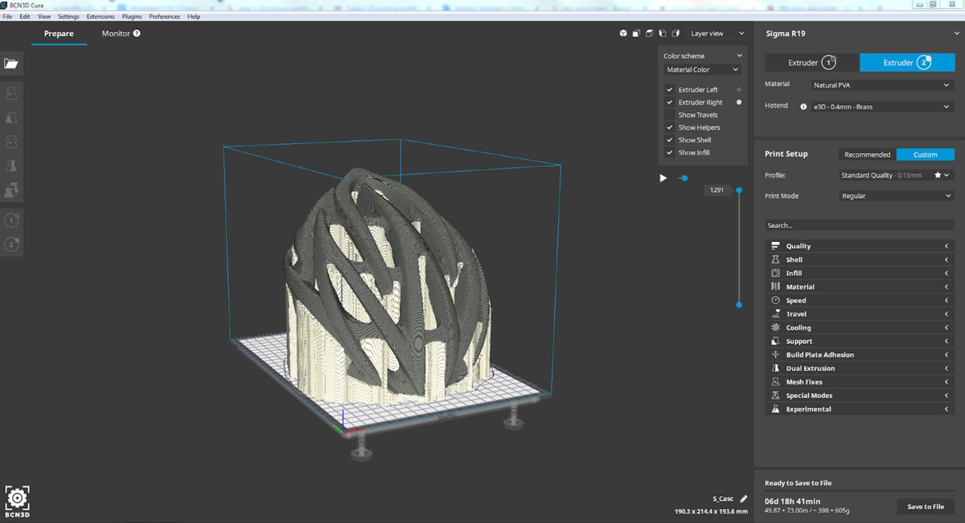 BCN3D 3D printing impresion slicer Cura BCN3DCura