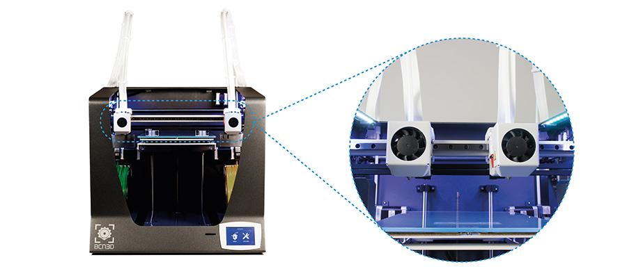 BCN3D IDEX technology Independent Dual Extrusion 3D printing
