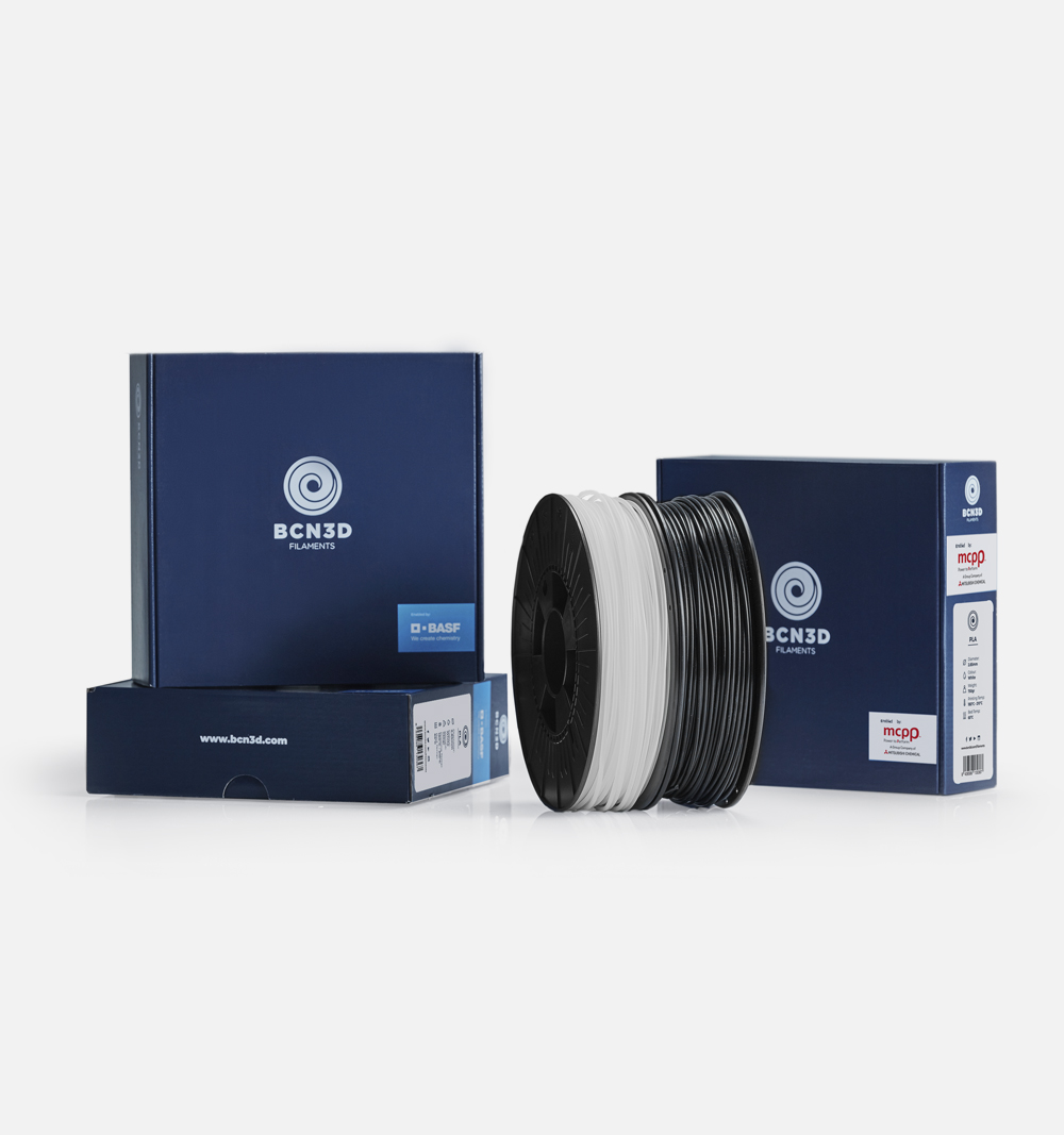 BCN3D filaments powered by BASF and Mitsubishi Chemical