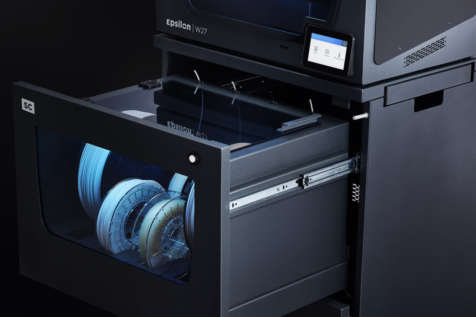 The 3D printing Smart Cabinet solution extends the service life of your filaments