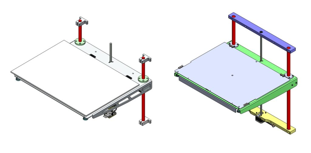 The more robust due to the redesigned Z shaft supports and lower bed platform