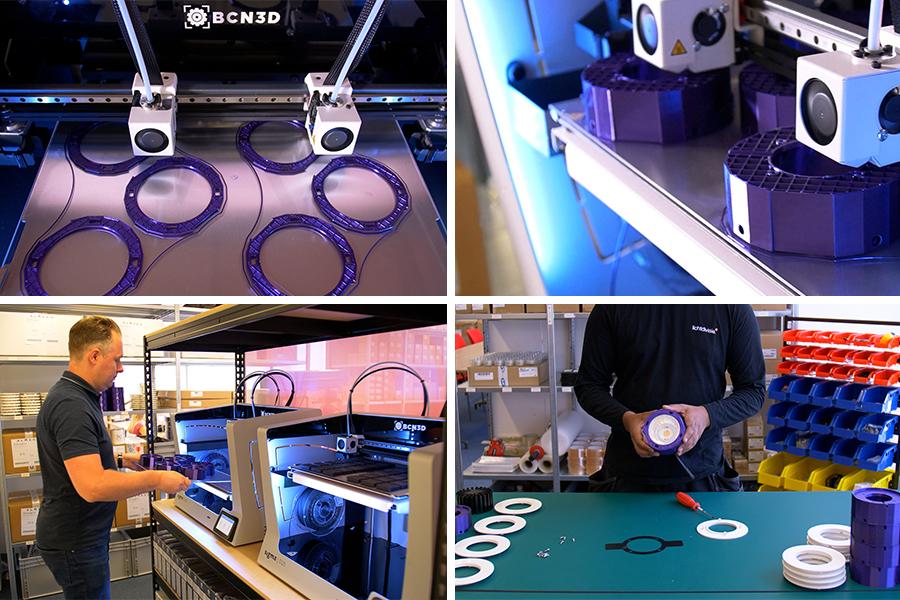 3D printed light fixtures